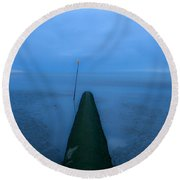 Round Beach Towel featuring the photograph Into The Unknown by Menega Sabidussi