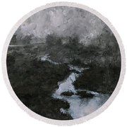 Into The Void 3 Round Beach Towel