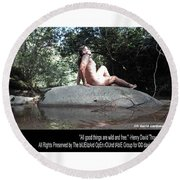 Into The Wild Round Beach Towel