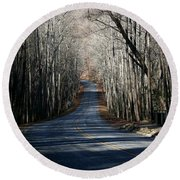 Into The Woods Round Beach Towel by Cathy Harper