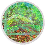 Into The Woods-through The Looking Glass Round Beach Towel