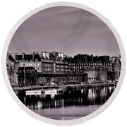 Round Beach Towel featuring the photograph Intra Muros At Night by Elf Evans