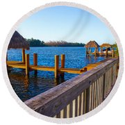 Intracoastal Series 12 Round Beach Towel