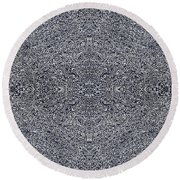Intricate Sketch Round Beach Towel