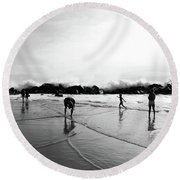 Intrinsic But Yet Extrinsic Round Beach Towel
