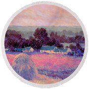 Inv Blend 10 Monet Round Beach Towel by David Bridburg