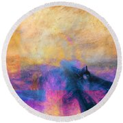 Inv Blend 12 Turner Round Beach Towel by David Bridburg