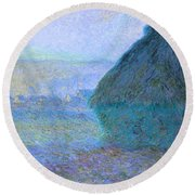 Inv Blend 21 Monet Round Beach Towel by David Bridburg