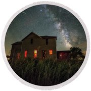 Round Beach Towel featuring the photograph Invasion by Aaron J Groen
