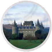 Inveraray Castle Round Beach Towel