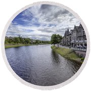 Round Beach Towel featuring the photograph Inverness by Jeremy Lavender Photography