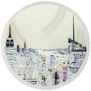 Round Beach Towel featuring the photograph Inversion Layer by Alex Lapidus