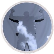 Round Beach Towel featuring the photograph Invisible ... by Juergen Weiss