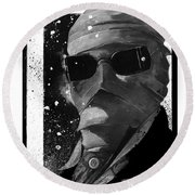Invisible Man Round Beach Towel
