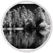 Invisible Reflection Round Beach Towel