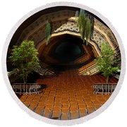 Inviting Dark Tunnel Round Beach Towel