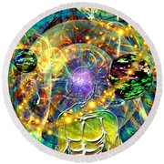 Inward Exploration Round Beach Towel