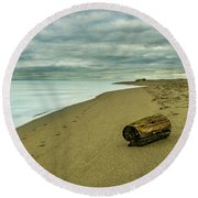 Iona Beach Solitude Round Beach Towel