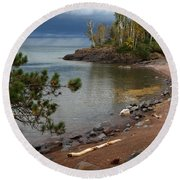 Round Beach Towel featuring the photograph Iona's Beach by James Peterson