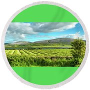 Ireland  - Burren Panorama Round Beach Towel