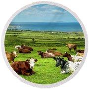 Ireland - Westcoast Round Beach Towel by Juergen Klust
