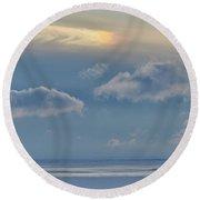 Iridescence Horizon Round Beach Towel