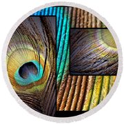 Iridescent Beauty Round Beach Towel