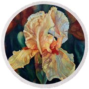 Iris 3_2017 Round Beach Towel