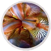 Iris Dream Round Beach Towel