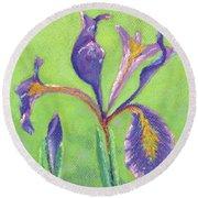 Iris For Iris Round Beach Towel