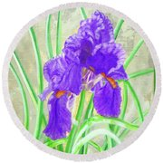 Iris Hope Round Beach Towel