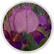 Iris - Magic Man. Round Beach Towel