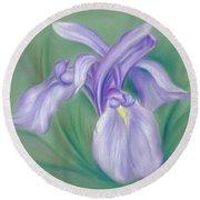 Iris Purple Round Beach Towel