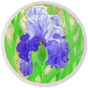 Iris Valor Round Beach Towel