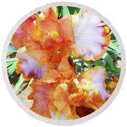 Irises 10 Round Beach Towel