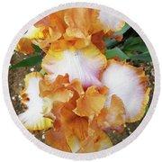 Irises 16 Round Beach Towel