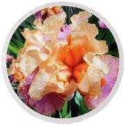 Irises 25 Round Beach Towel