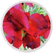 Irises 6 Round Beach Towel