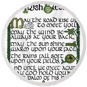 Irish Blessing Round Beach Towel