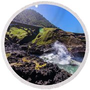 Irish Bridge Round Beach Towel