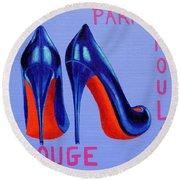 Irish Burlesque Shoes Round Beach Towel