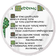 Irish Celtic Wedding Blessing Round Beach Towel