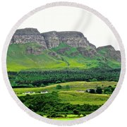 Irish Cliffs Round Beach Towel