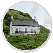 Irish Cottage Round Beach Towel