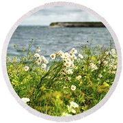 Irish Flower Impression Round Beach Towel