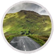 Irish Highway Round Beach Towel