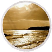 Irish Sea Round Beach Towel