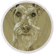 Irish Terrier Round Beach Towel