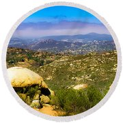 Round Beach Towel featuring the photograph Iron Mountain View by T Brian Jones