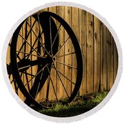 Iron Wheel Round Beach Towel